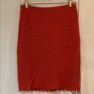 Read crocheted skirt